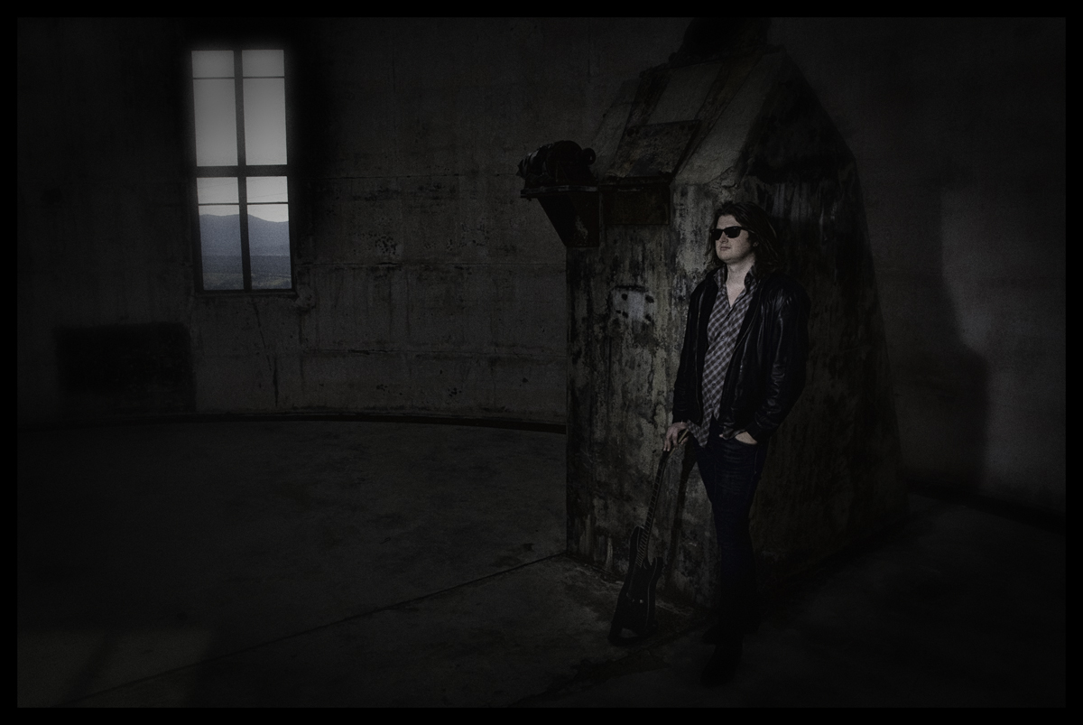 Steve's photo of Hunter at the burnt out ruins of Mt Stromlo Observatory