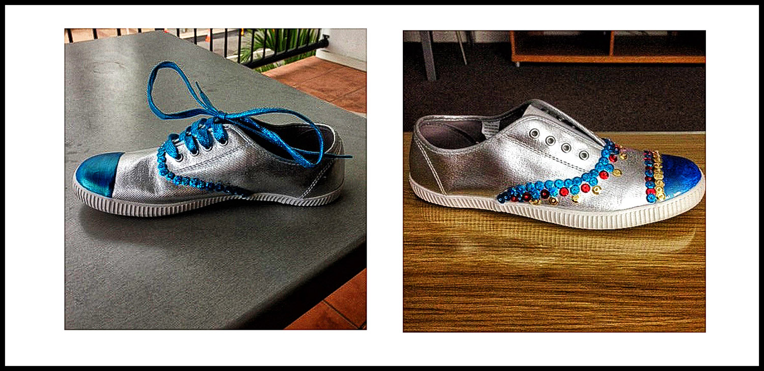 Kanen's shoes. First and second draft. Will there be a third draft, I wonder?