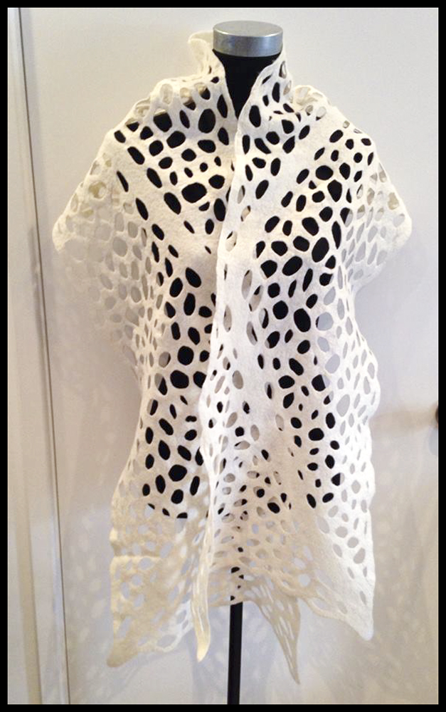 Telena's cream lace wrap