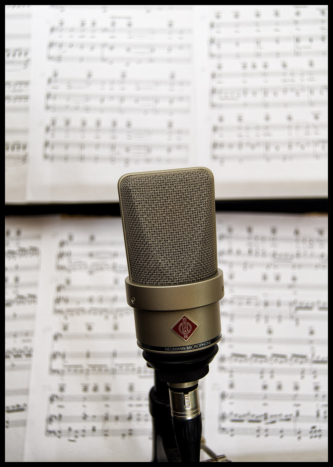 Steve's microphone and music - all ready to go