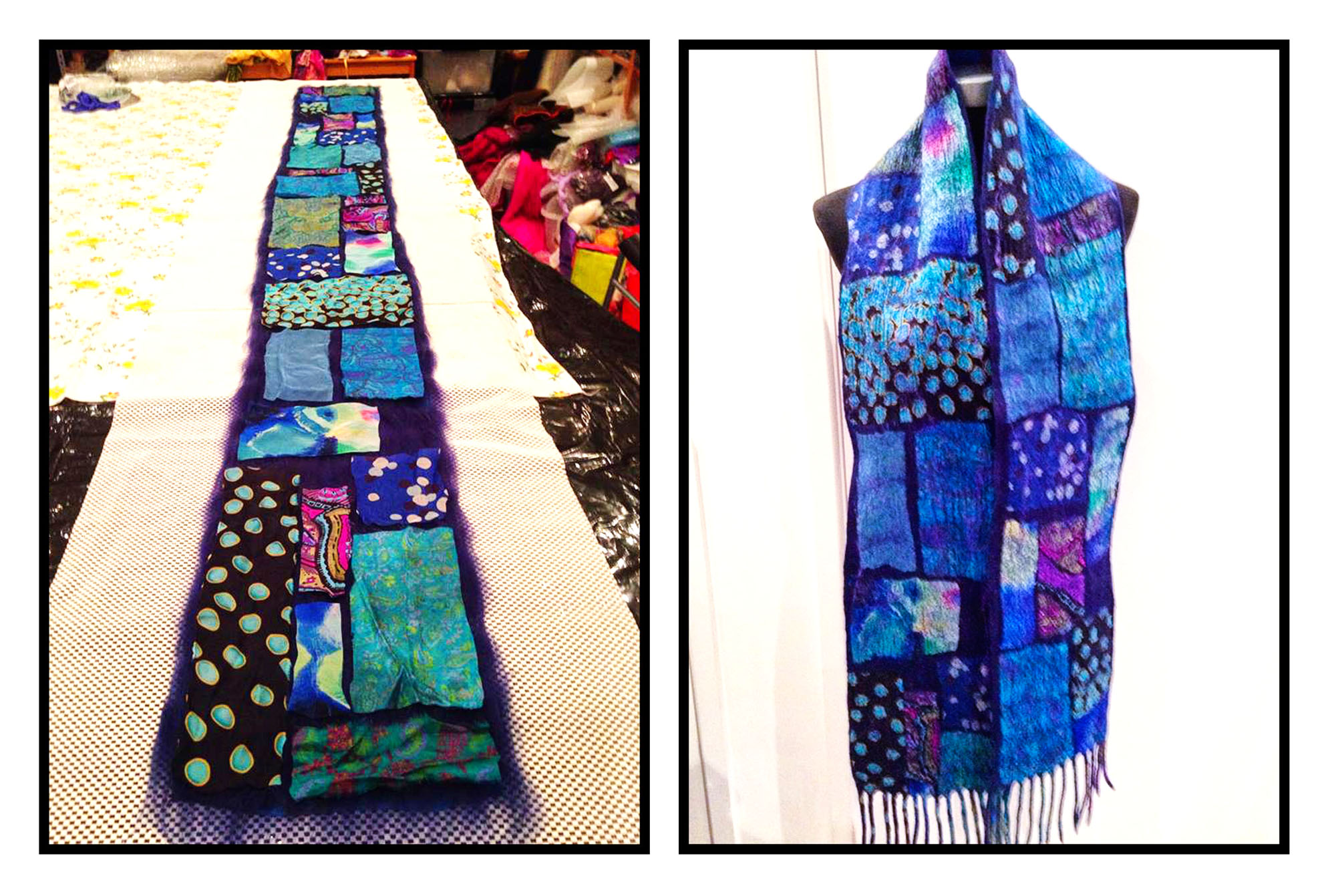 Telena's gorgeous scarf: Before and after