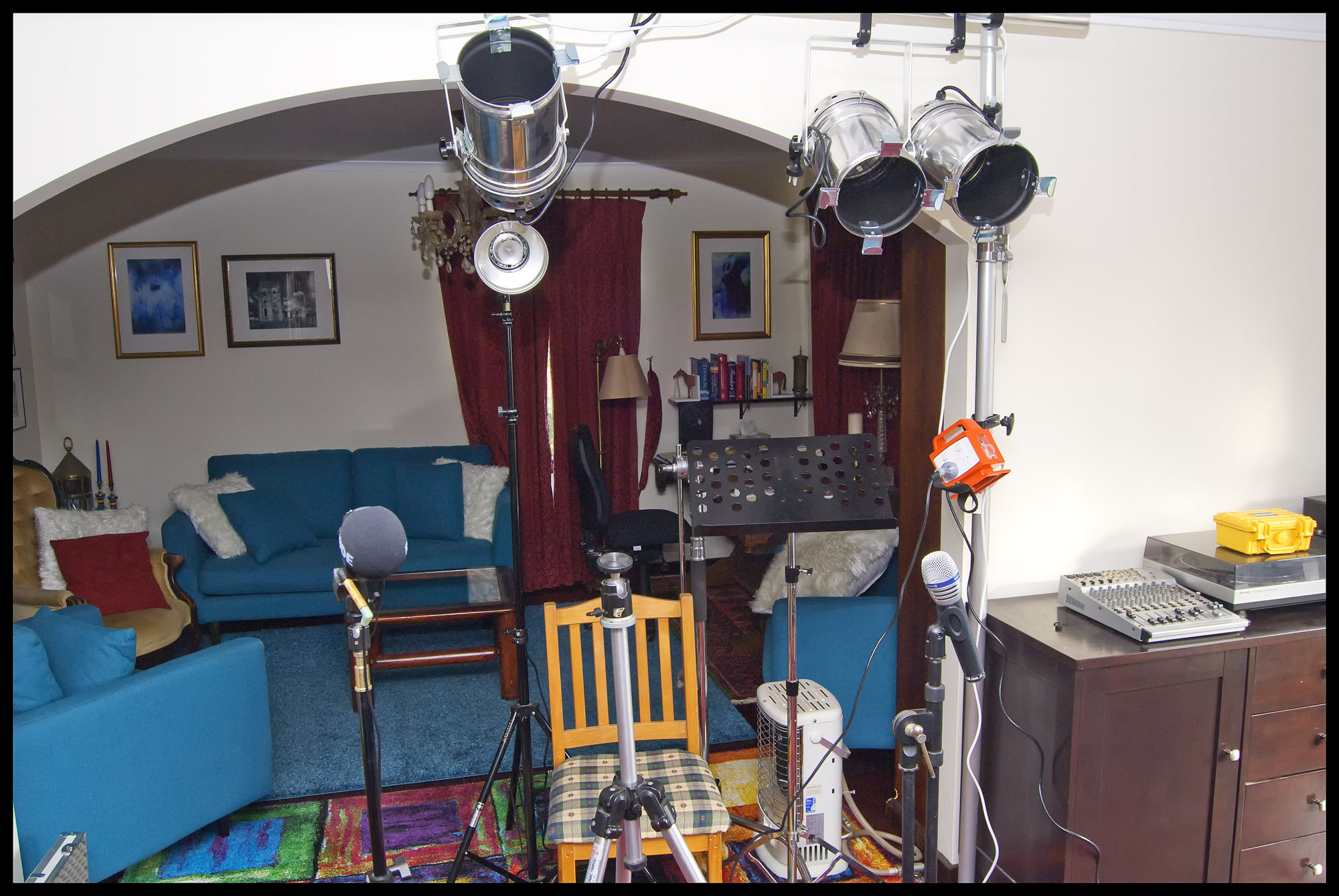 Georgia's recording set up