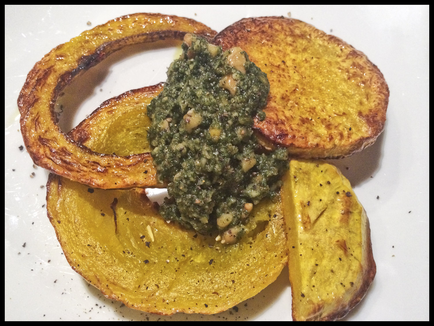 Roasted butternut with sage pesto