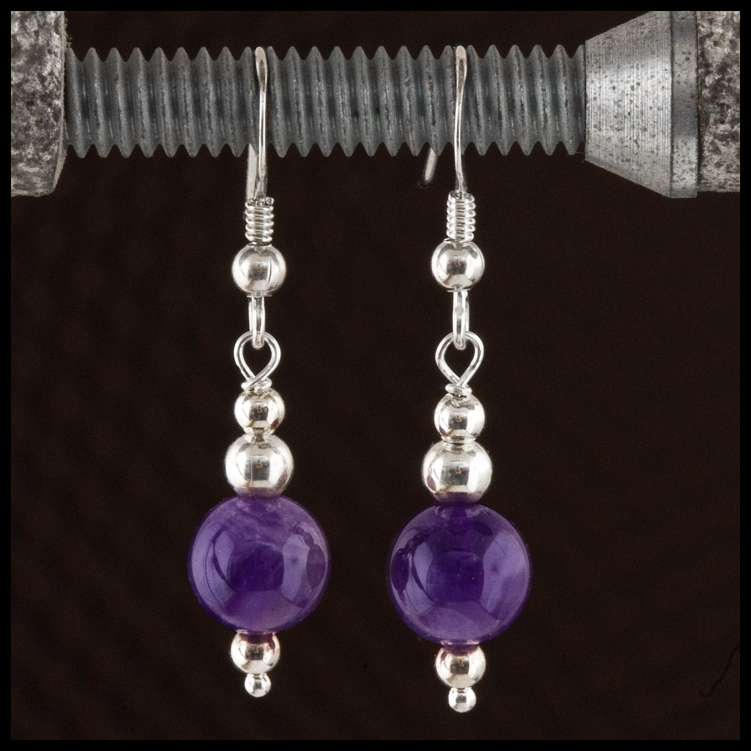 Amethyst and sterling silver