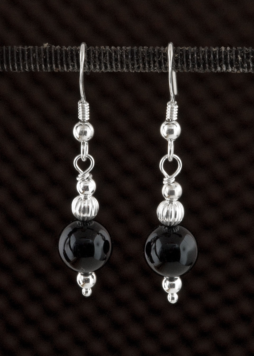Black onyx and sterling silver