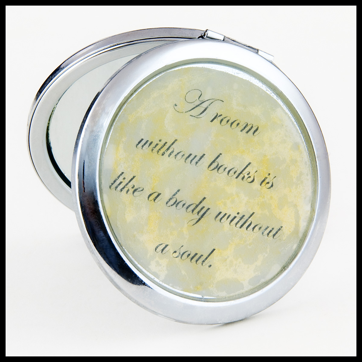 Book-themed mirror compacts