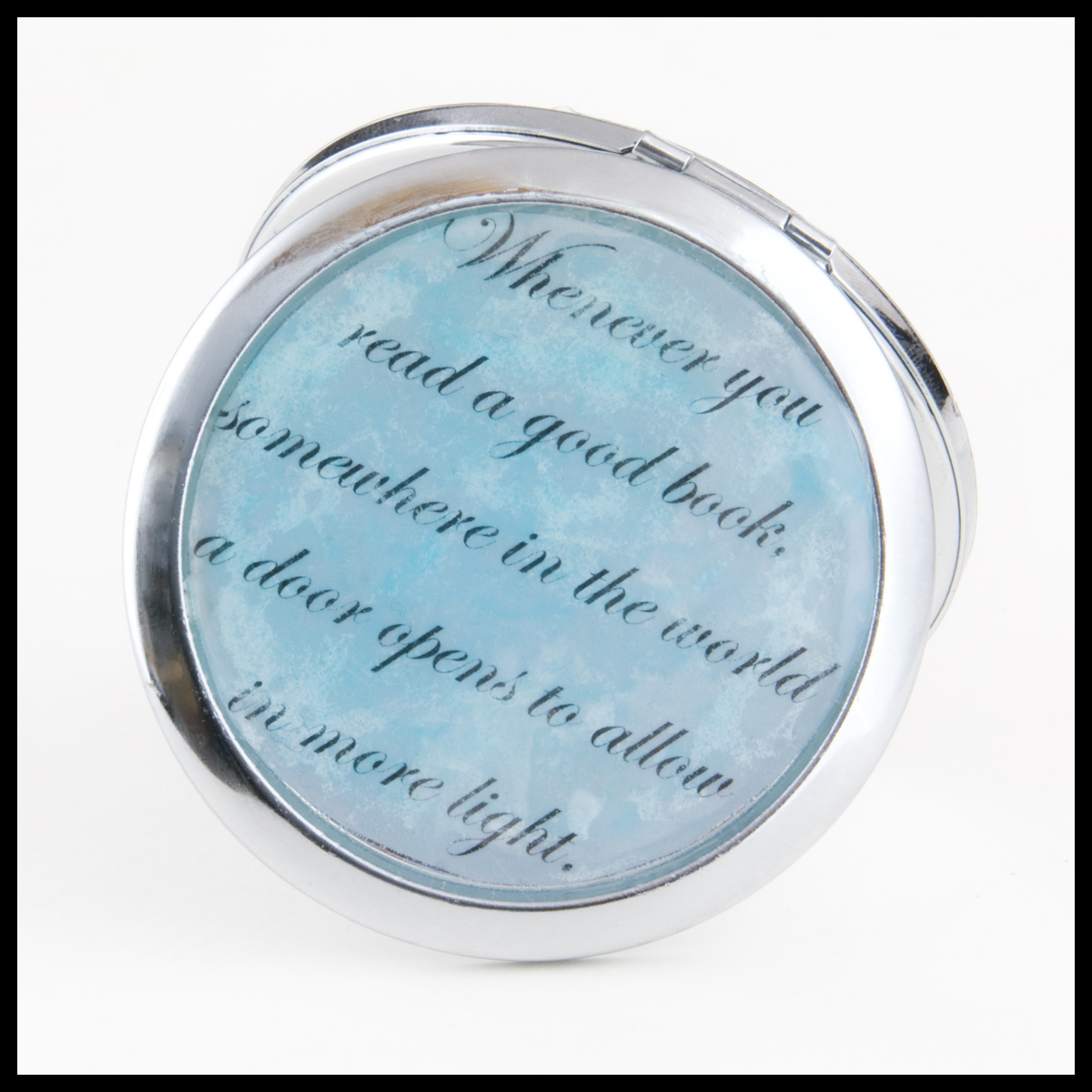 Book-themed mirror compact