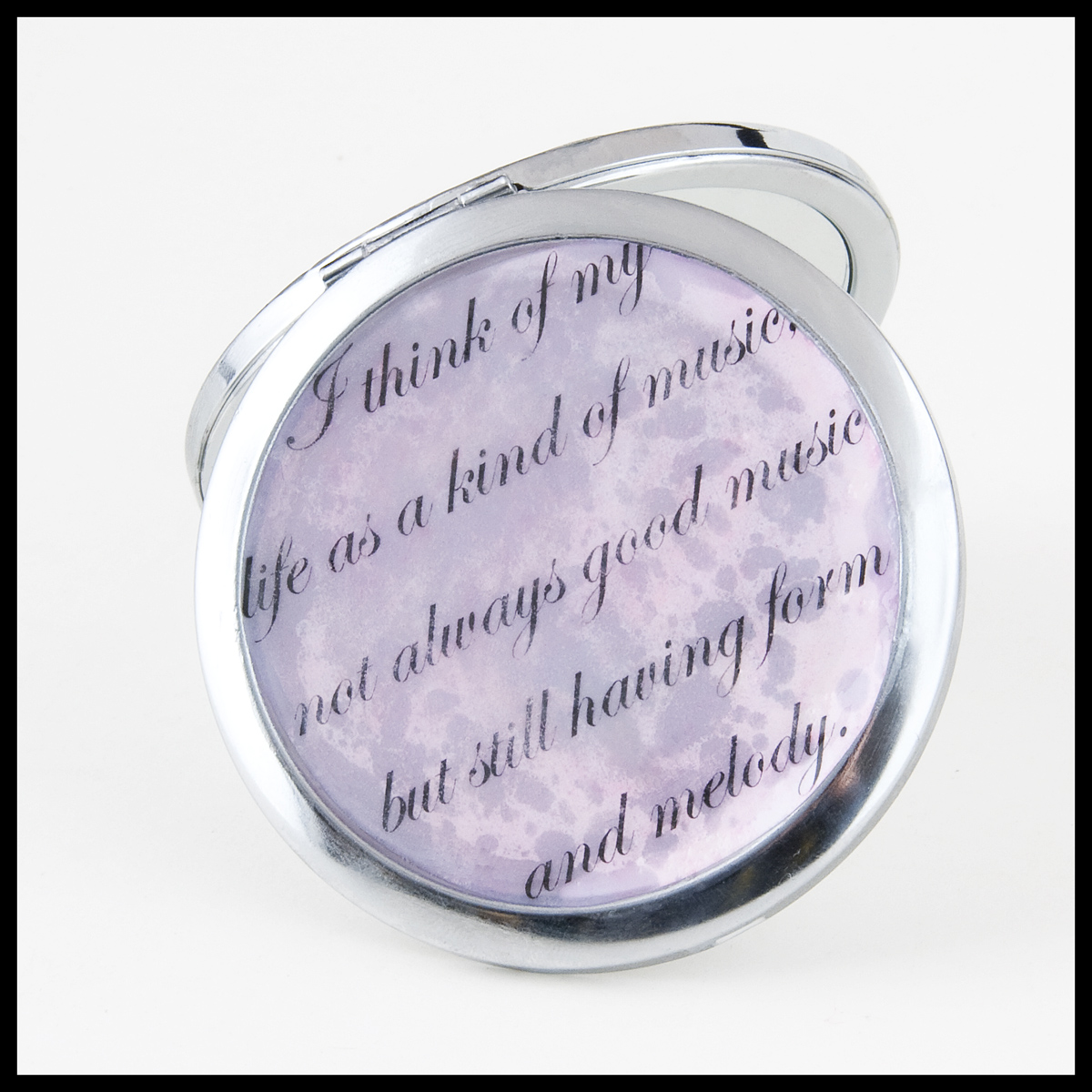 Music-themed mirror compacts