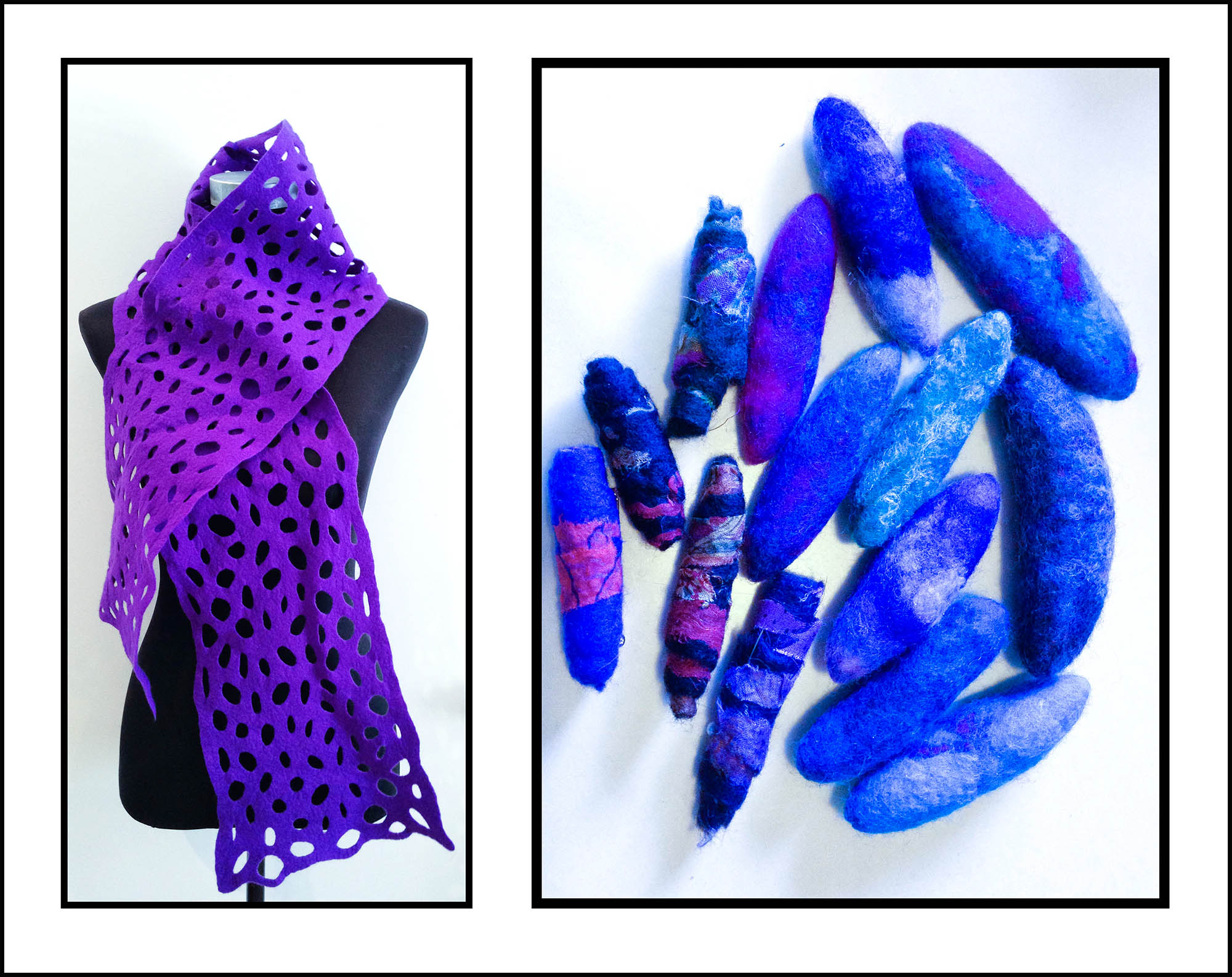 Telena's felt scarf and brooch