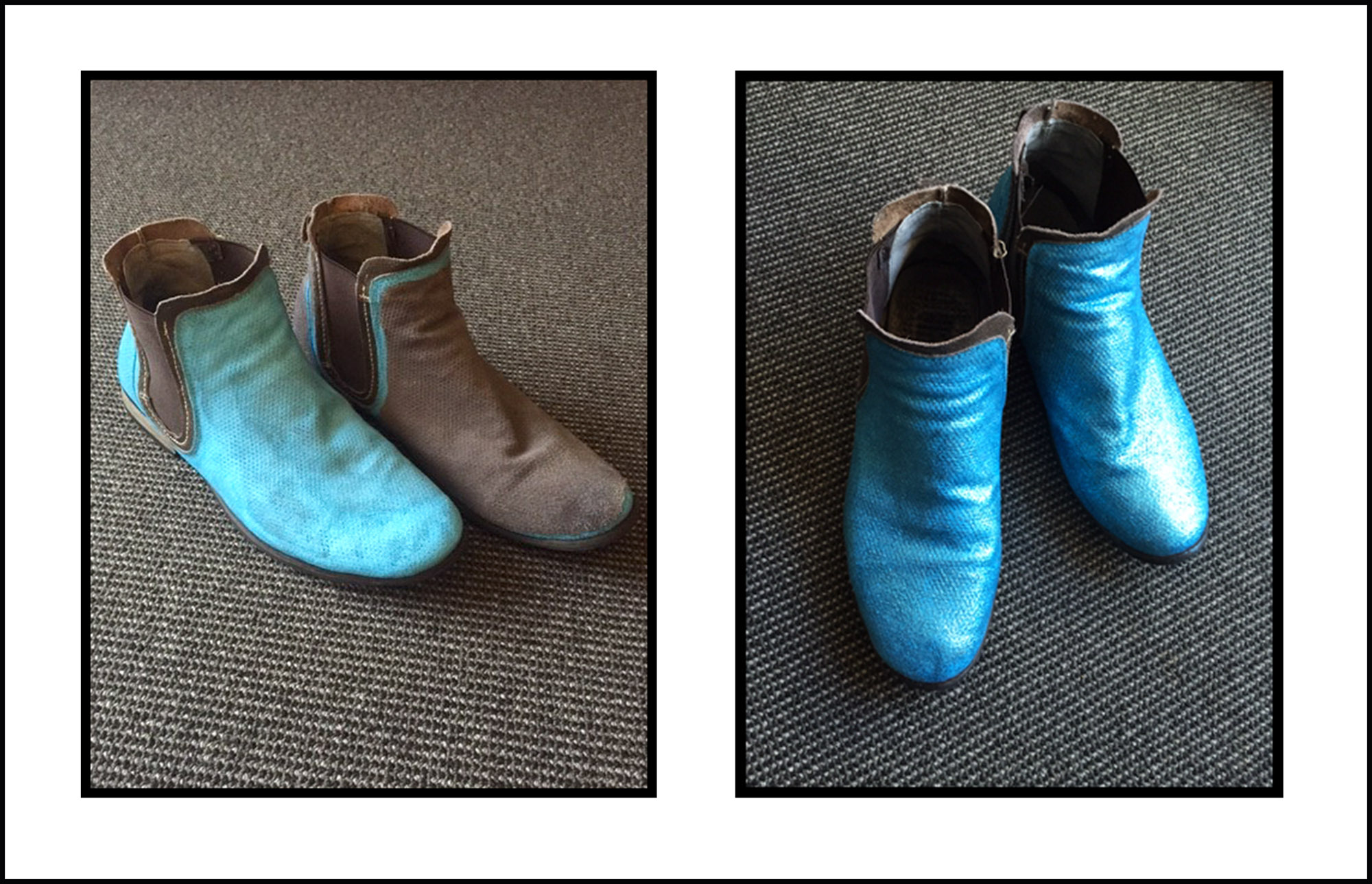 Kanen's painted boots