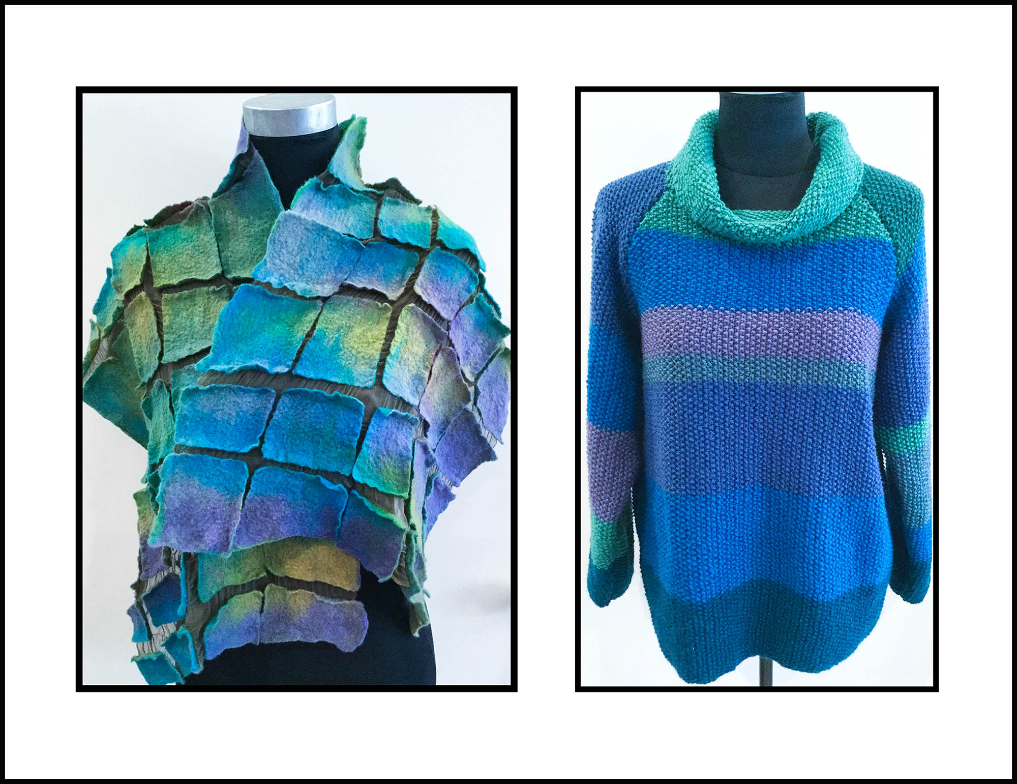 Telena's wrap and pullover