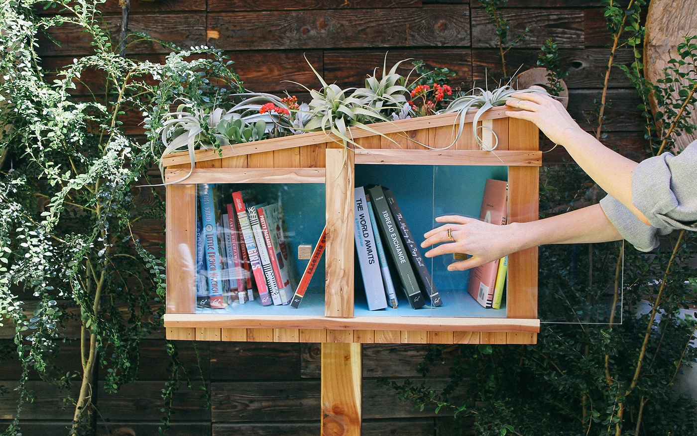 Sea Ranch-inspired library design by Ben Laramie, photography by Irene Kim