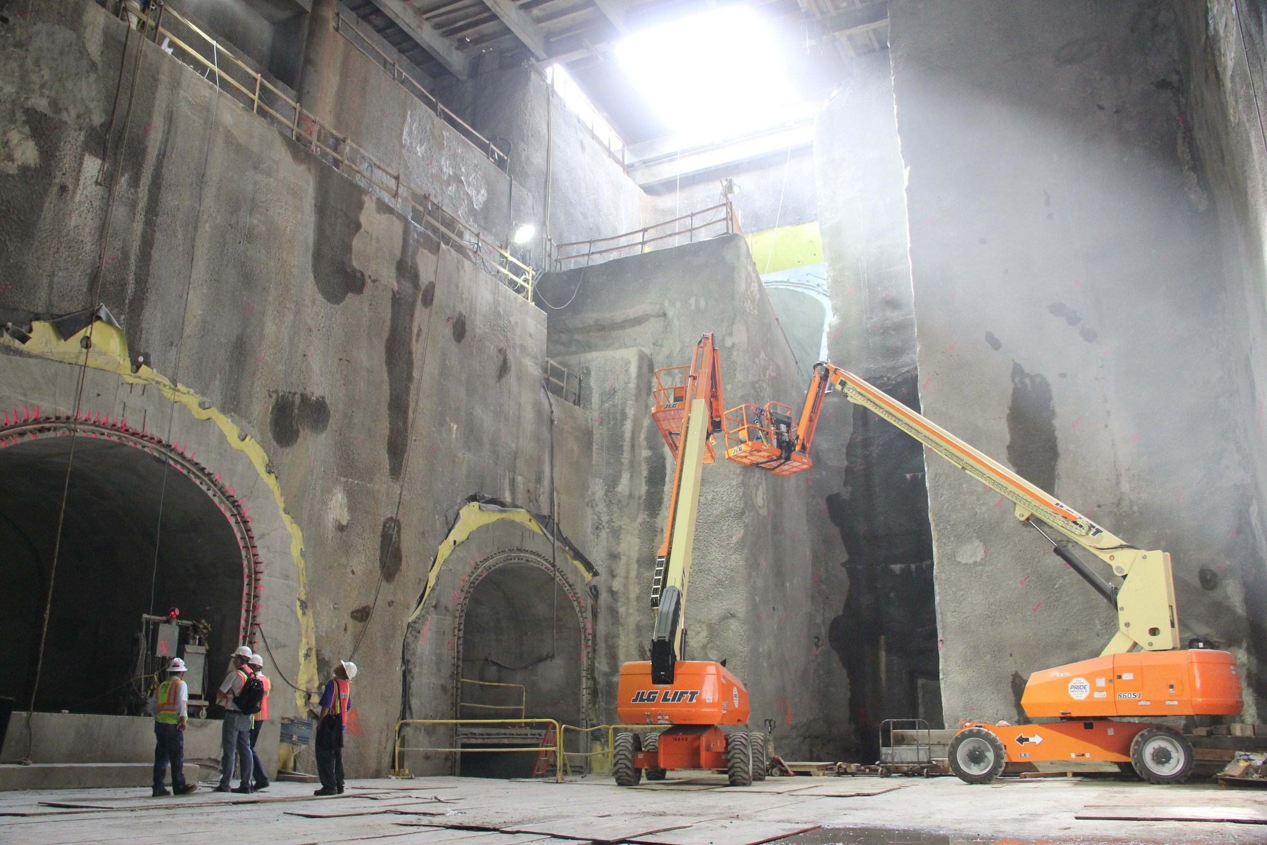 New York,NY NYCMTA 2nd Ave Subway, 72nd Stret Station inspection.JPG