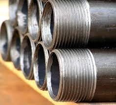 (Figure 8)Pipe threads cut on a lathe at the Brookfield, Ohio, facility.