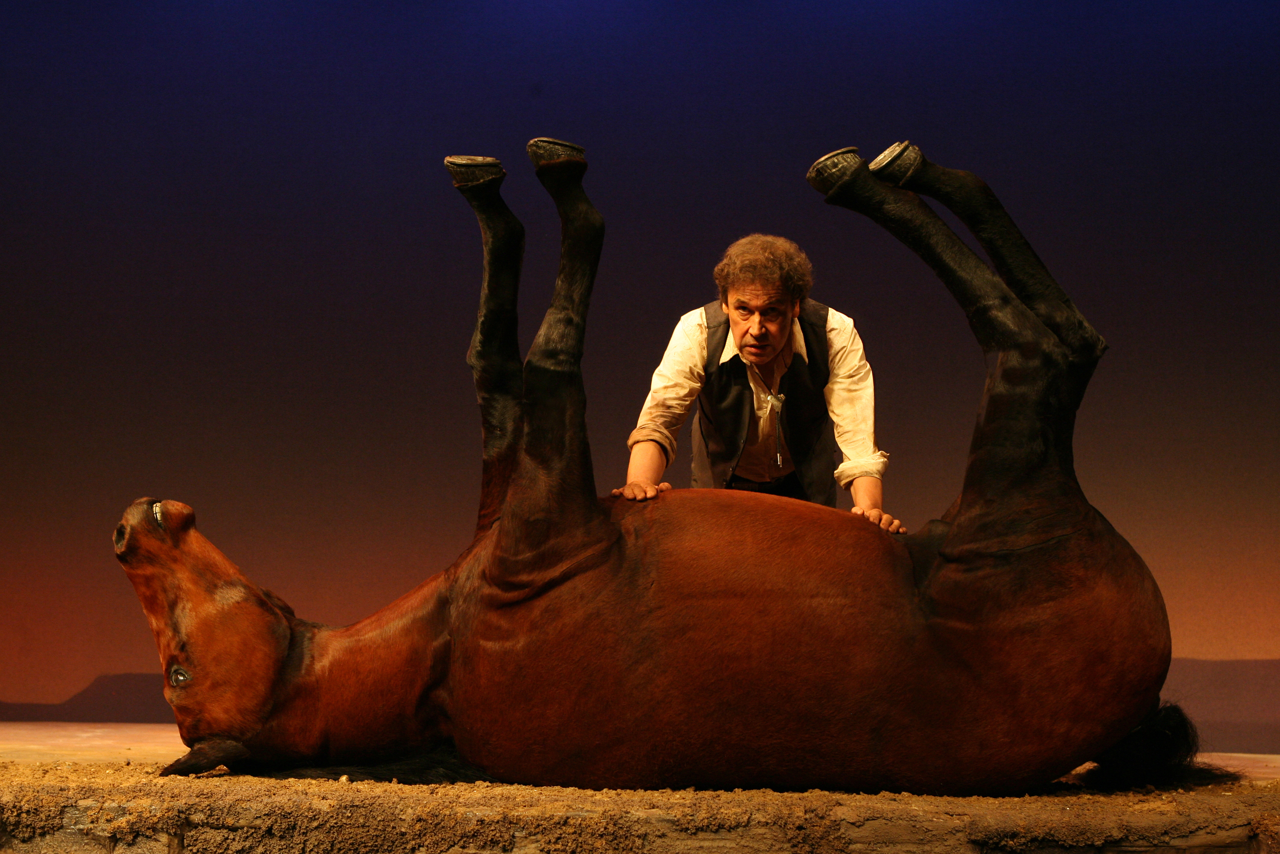 Stephen Rea in Kicking a Dead Horse by Sam Shepard at The Public Theater, NYC, 2008. Photo credit: Joan Marcus