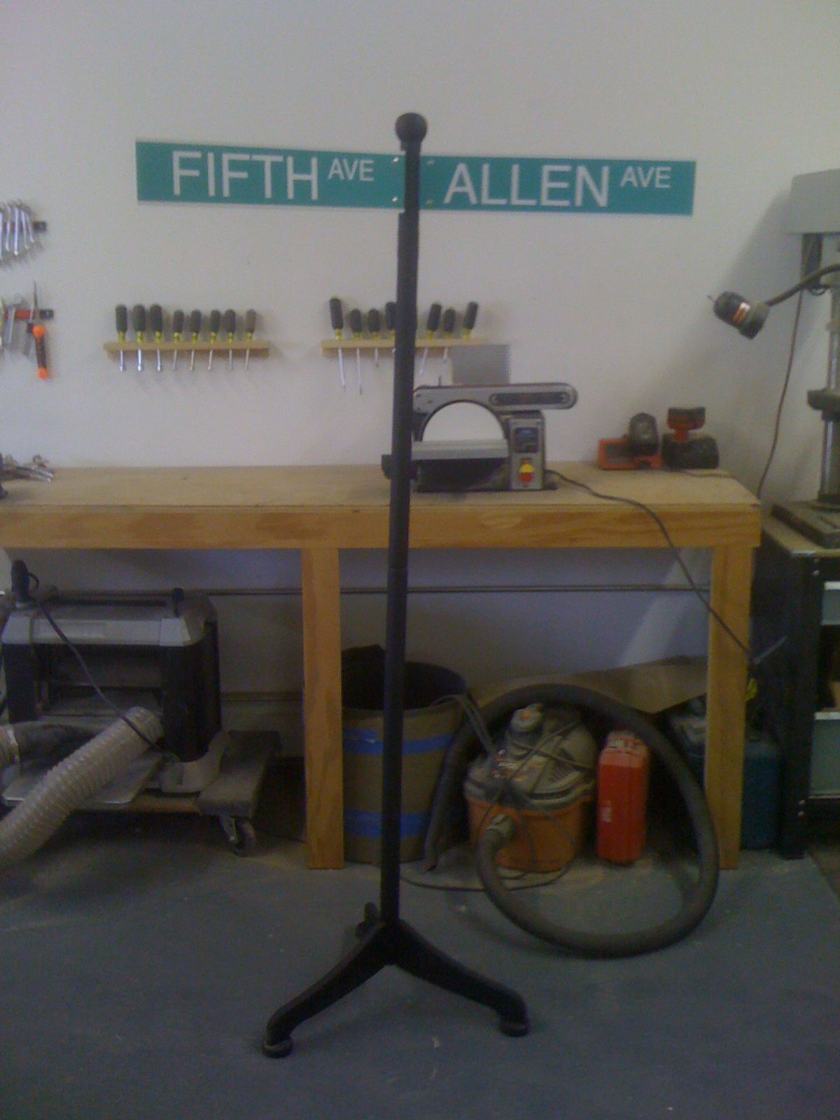 Promotional signage for Allen & Fifth , NYC.