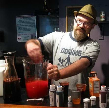 Mixing blood, NYC, 2011.