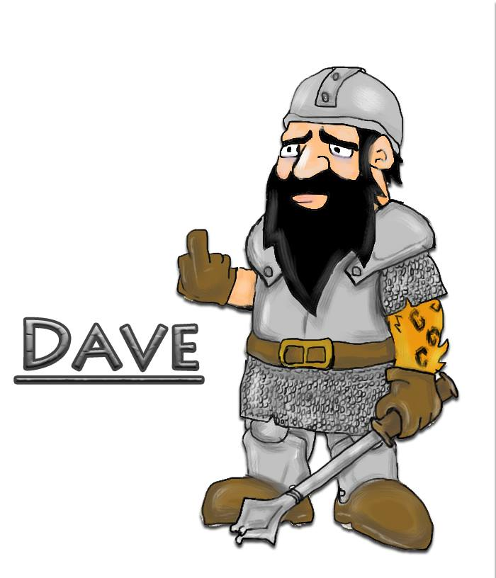 Dave, courtesy of Steve Wetherell. For his collection of Humor, Fantasy, Sci-Fi, and even Horror, visit  his Amazon page .