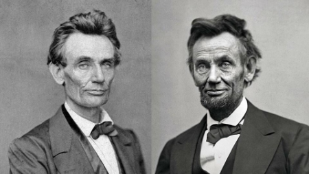 Not Pictured: Lincoln next to his crazy grandfather.