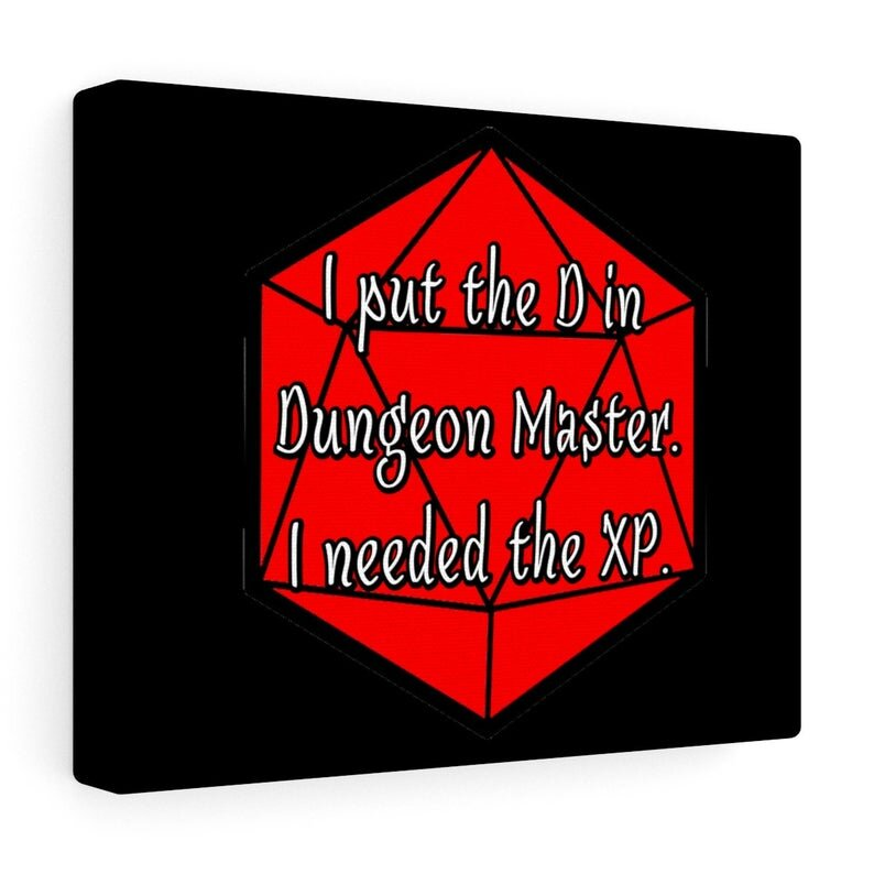 I Put the D in Dungeon Master. I Needed the XP.