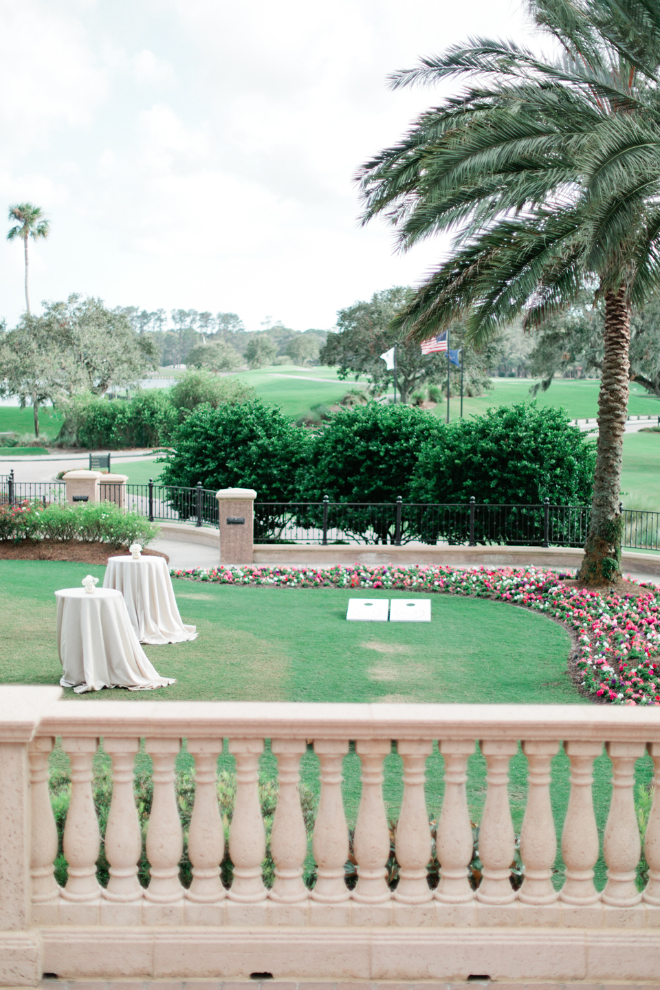 Image of cocktail hour set-up at TPC Sawgrass at Ponte Vedra, Florida