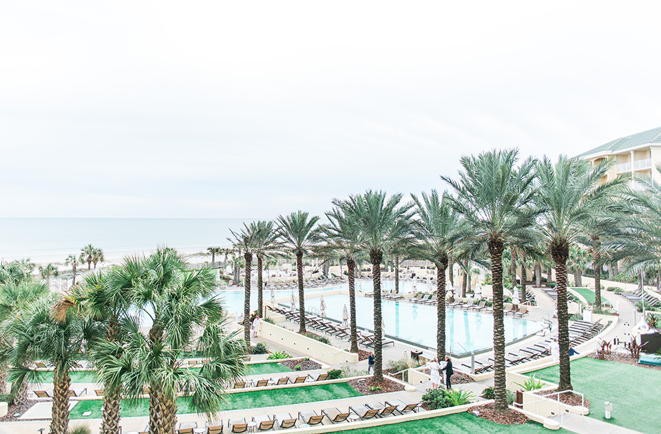 Image of the pool landscape of the Omni Amelia Island Plantation Resort.