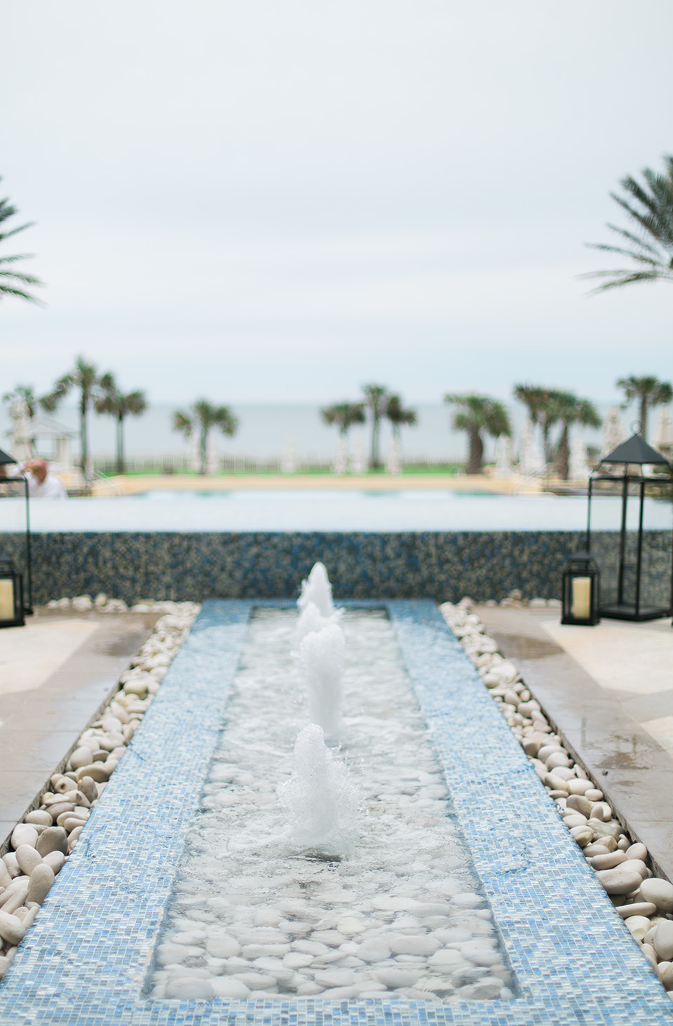 Picture of a fountain at the Omni Amelia Island Plantation Resort.