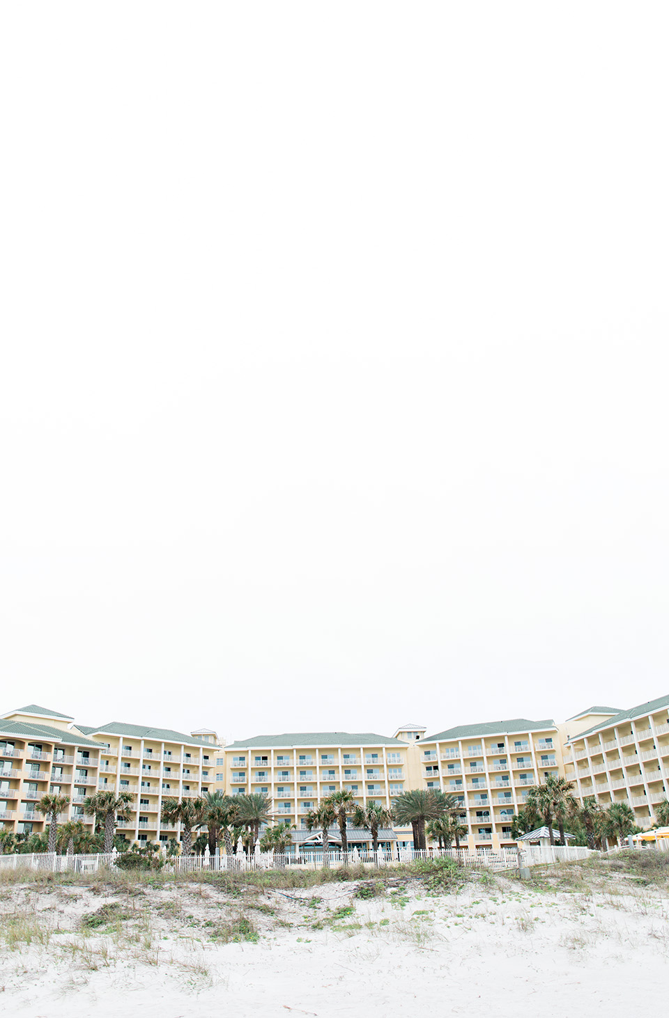 This is an image of the beachfront side of the Omni Amelia Island Plantation Resort.