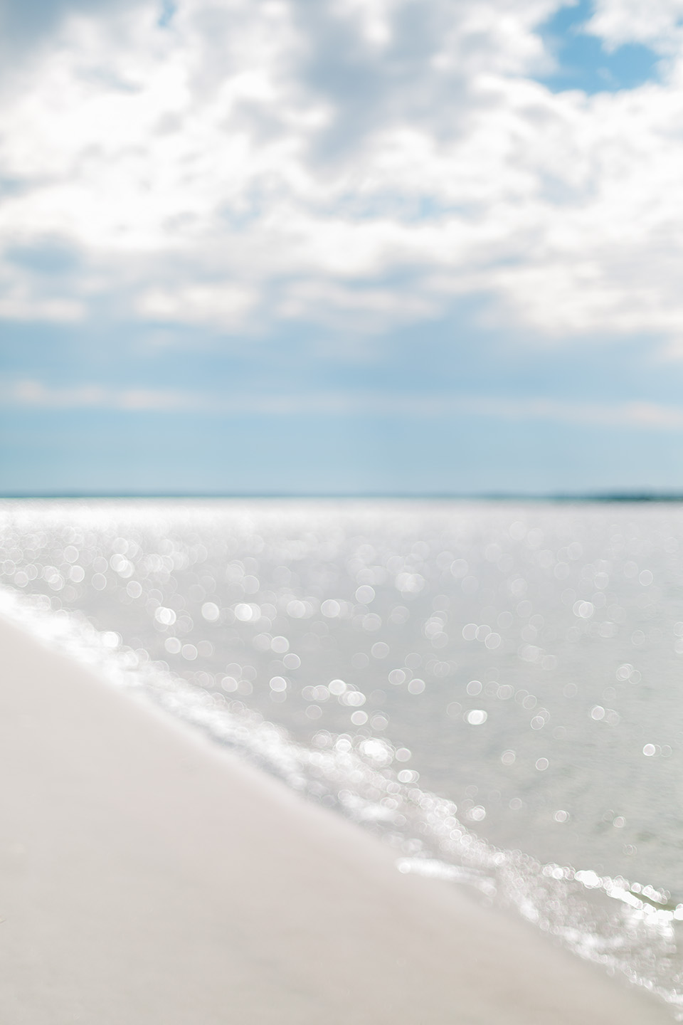 Image of water sparkling in the sunlight on the ocean waters of the Atlantic on Amelia Island.
