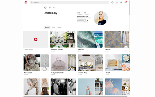 Picture of the landing page for Debra Eby Photography Co. on Pinterest.