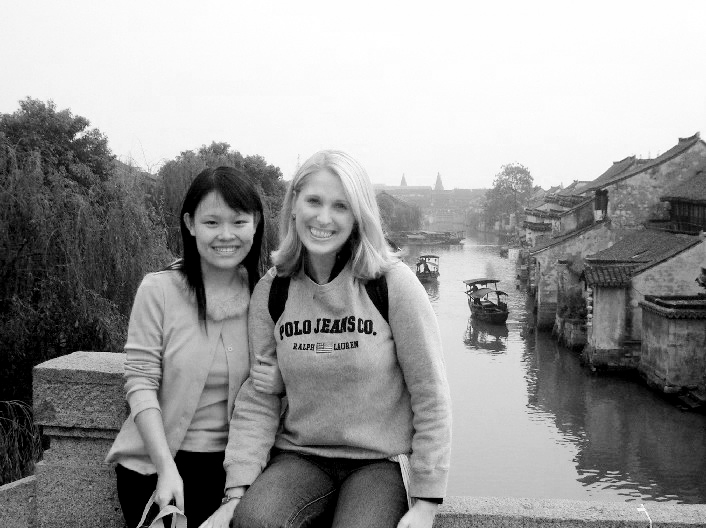 My colleague, Sunny, and me in Zhouzhuang