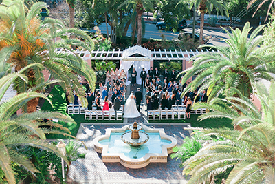 Image of a couple getting married outside at The Vinoy in St. Petersburg, Florida.  | Debra Eby Photography Co.