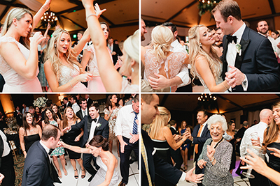 Wedding Reception Dancing with the bride and groom at TPC Sawgrass in Ponte Vedra, Florida.  | Debra Eby Photography Co.