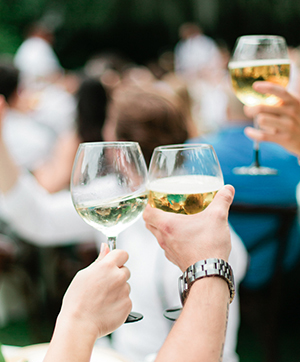 Toasting at a wedding reception | Debra Eby Photography Co.