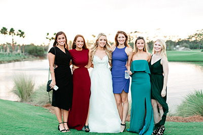 Guest portraits on a wedding day with a bride at TPC Sawgrass in Ponte Vedra, Florida. | Debra Eby Photography Co.