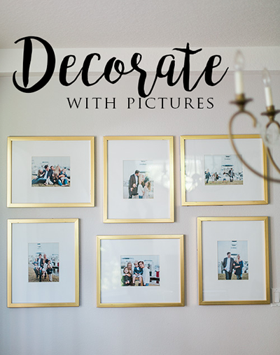 Tips to decorate your home with pictures.  Wall galleries, wall collages, and other tips. | Debra Eby Photography Co.
