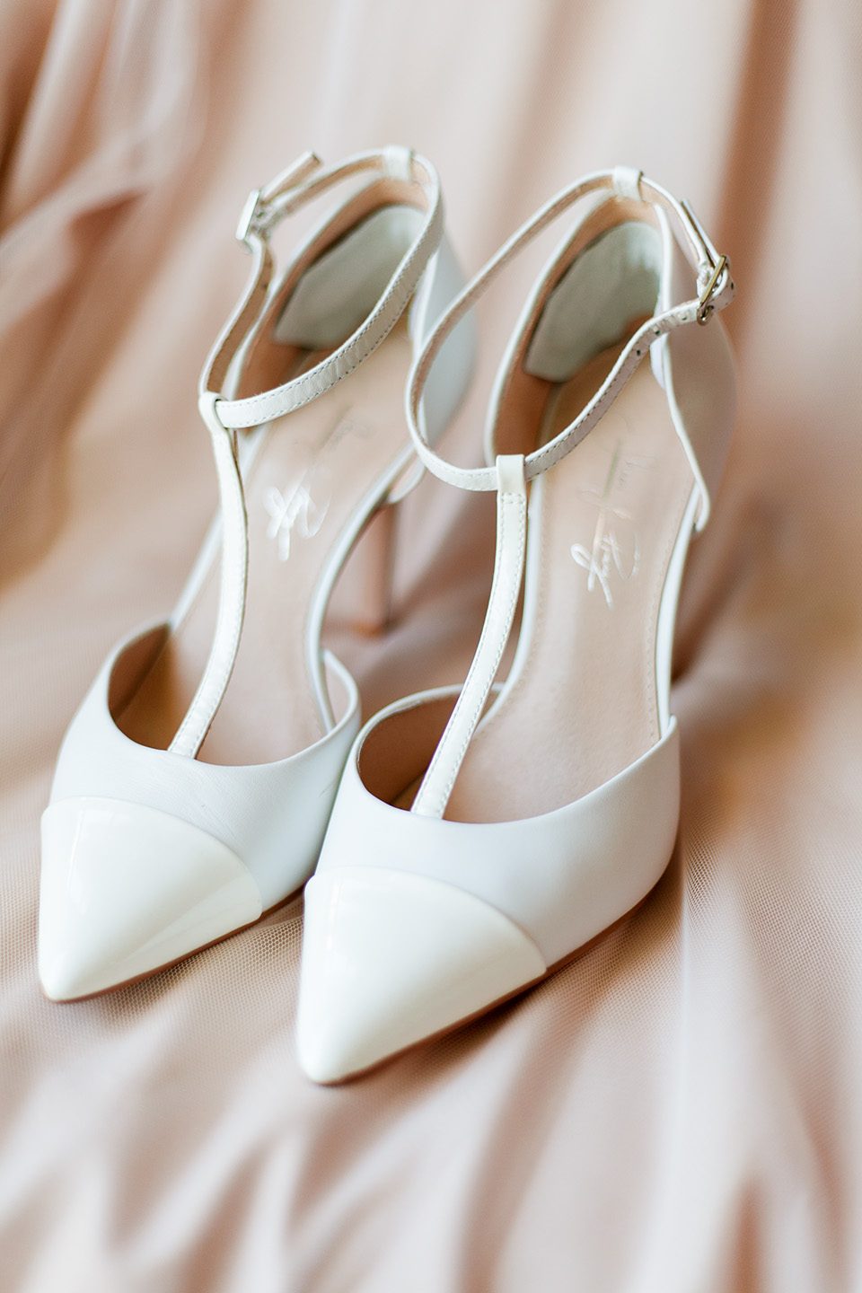 Bridal shoes photographed on the wedding day at The Vinoy in St. Pete, Florida | Debra Eby Photography Co.
