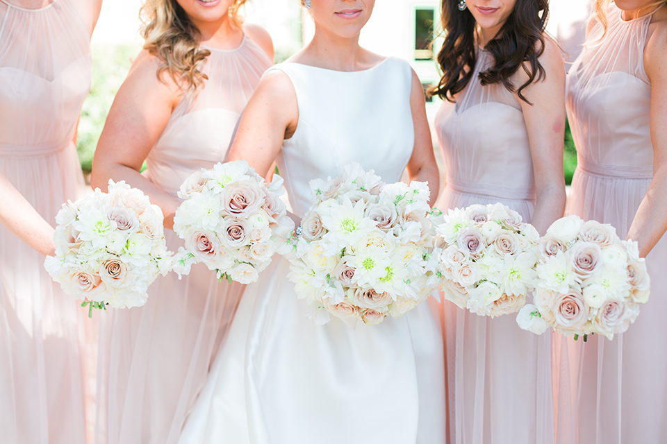 Bridesmaids and Bride bouquets on a wedding day at The Vinoy in St. Pete, Florida | Debra Eby Photography Co.