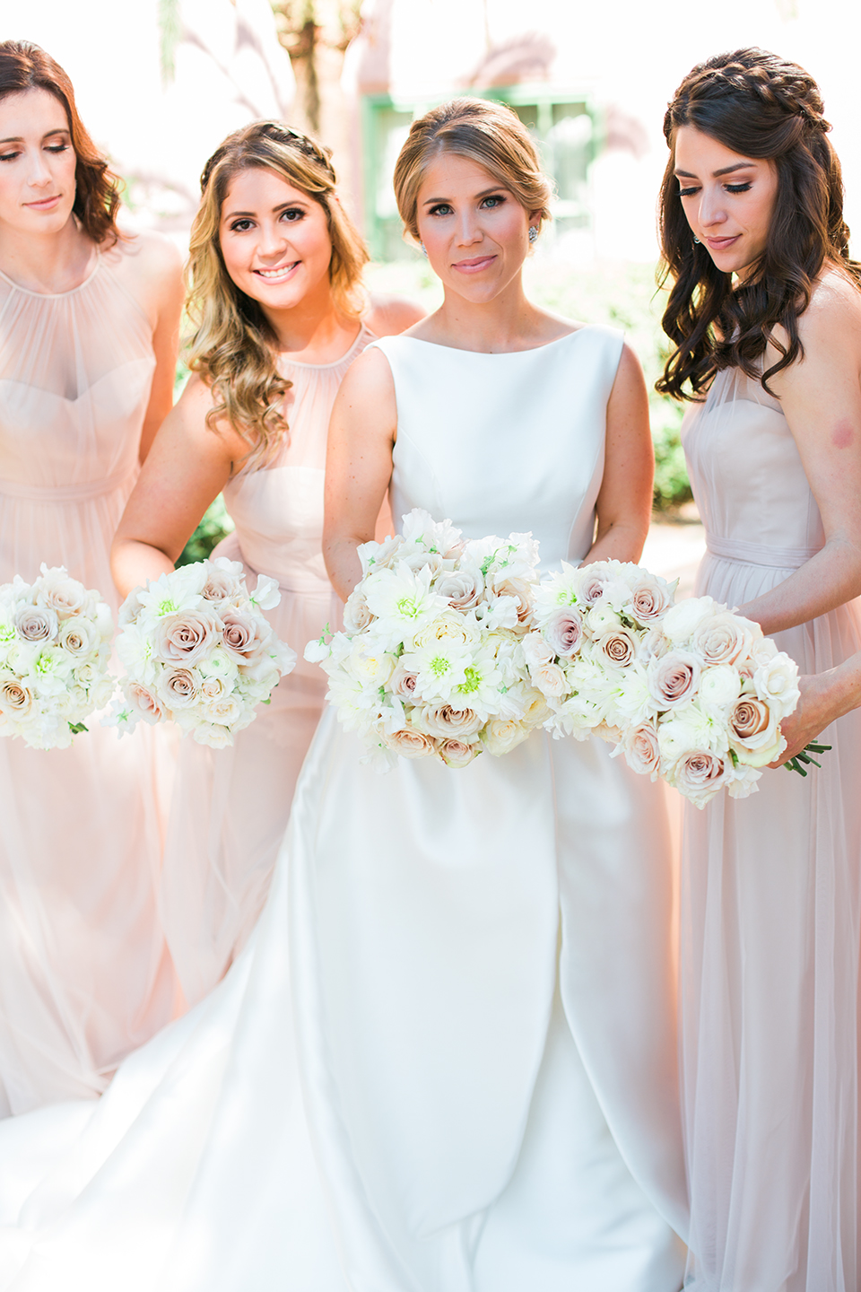 Bride with her bridesmaids at The Vinoy in St. Pete, Florida | Debra Eby Photography Co.