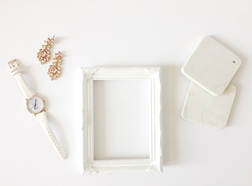iPhone lay flat image of whites and golds.  | Debra Eby Photography Co.