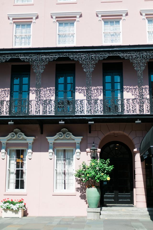 Front entrance to The Mills House, historic Charleston, South Carolina