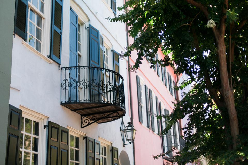 Rainbow Row in historic Charleston, South Carolina