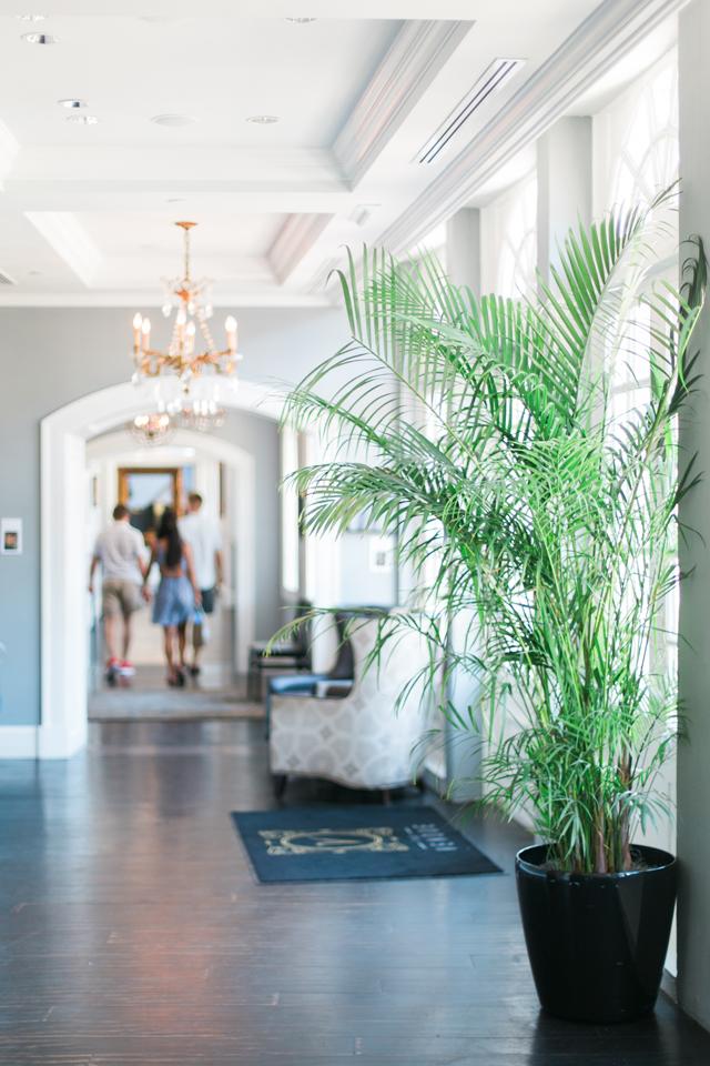 Inside The Vendue Hotel in historic Charleston, South Carolina