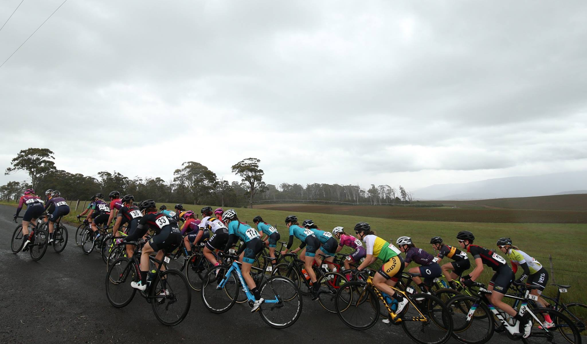 Grey skies all day for Stage 1. Photo credit: Con Chronis Photography.