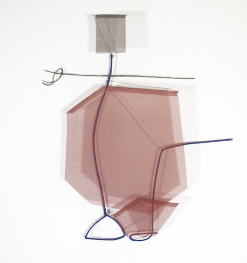 Floating Drawing no. 14,    2012, wire, paper, gouache,    30 × 26 × 4 inches