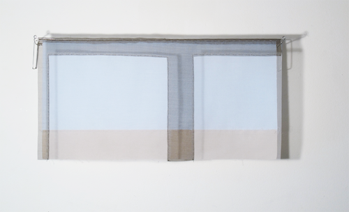 Floating Drawing no. 25,  2014, wire, paper, silk, gouache,  20 × 10 × 4 inches