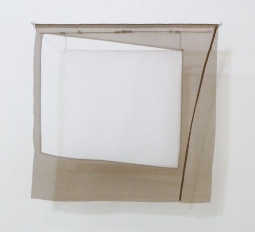 Floating Drawing no. 21,  2013, wire, paper, silk, muslin, gouache,  18 × 17 × 4.5 inches