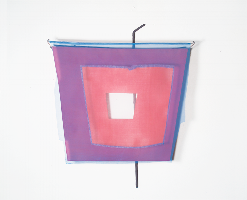 Floating Drawing no. 34,  2015, wire, paper, silk, gouache,  20 × 24 × 4 inches