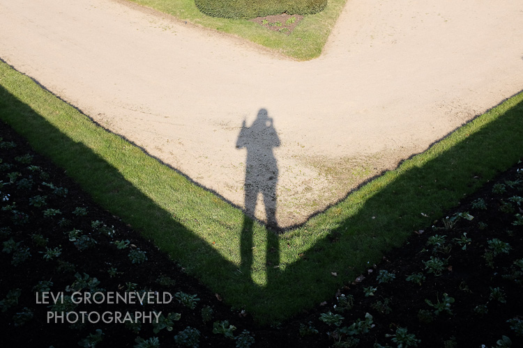 Shadow portrait on the grounds