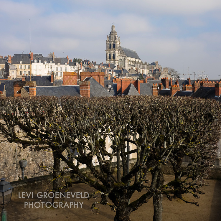 The Blois Cathedral atop the town.